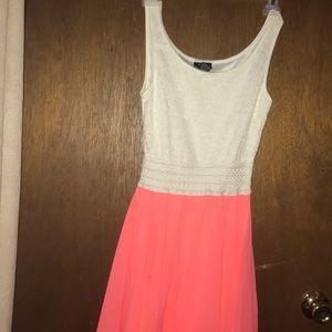 White & Peach Dress